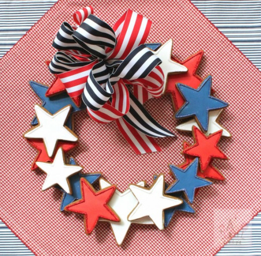Fourth Of July Cookie Wreath Tutorial