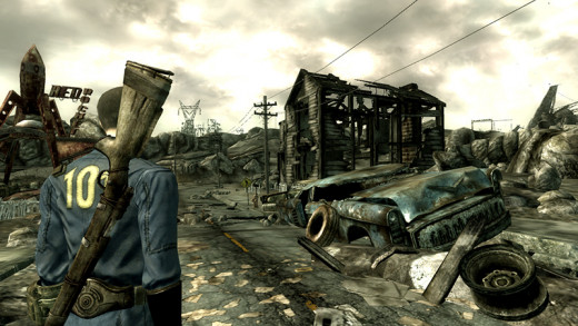 "An example of the world of ""Fallout"" (""Fallout 3"")"