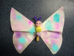 Craft: Butterfly Clips and Popsicle Stick Dragonflies for Your Fun Event.