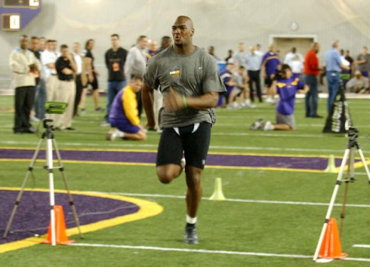 JaMarcus Russell during LSU pro day