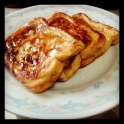 Organic French Toast (with Fresh Ginger and Coconut Oil).