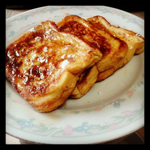 The best Home Made Ginger French Toast Ever is made with fresh Ginger Root and Organic Coconut Oil.