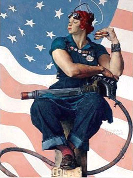 2. Norman Rockwell's Rosie the RIveter painting