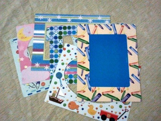 paper frame stickers