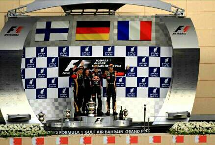 Sebastian Vettel -a German F1 racer who just won Championship in F1 Bahrain April 2013.