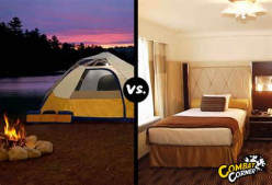 Camping in a tent or relaxing in a hotel Which one would you prefer to do and why?