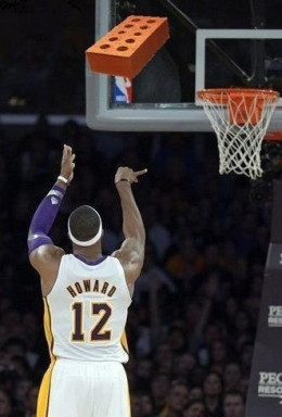 Dwight Howard....Brick! after Brick!