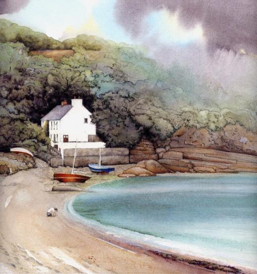 """""""Cwm yr Eglwys 2012"""", watercolour by Helen Lush"""
