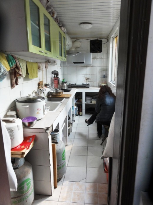 3 d) The kitchen in the Hutong home that we visited
