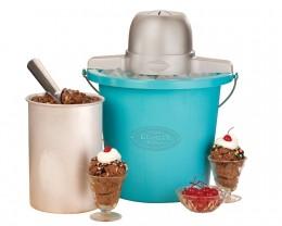Nostalgia Electrics ICMP-400BLUE 4-Quart Electric Ice Cream Maker