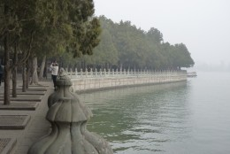 6 a) The waterfront area at The Summer Palace
