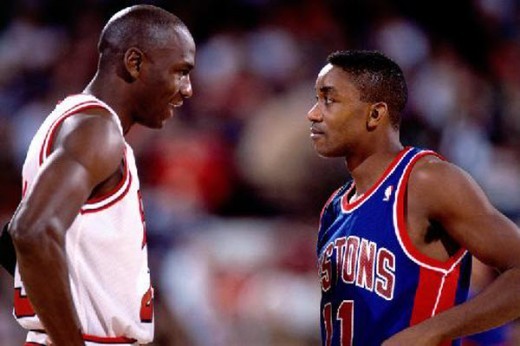 Michael Jordan and Isaiah Thomas