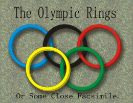 "The Olympics, the Olympic Rings, the Endeavor for Greatness on a Global Level...or a good time to watch for the classic ""agony of defeat"" moment on the ski jump? You decide."