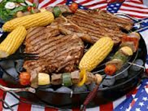 The 4th of July BBQ grill out is a part of the tradition with many American families.