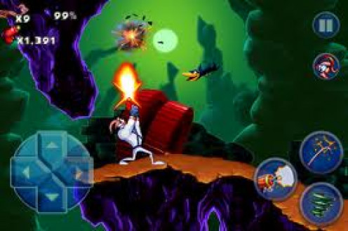 Earthworm Jim was made for the Sega Master system, Sega Genesis and the Sega CD. The game has great color schemes and the play is simple but very fun.