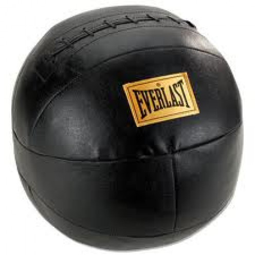 The medicine ball is great for strength exercises. It can be thrown at your body by your trainer.