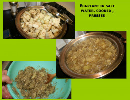 Cooking steps of eggplant