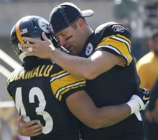Polamalu and Ben Roethlisberger