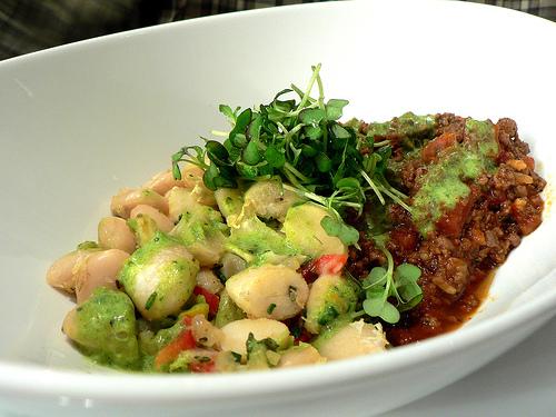 Lamb Chili with Microgreens