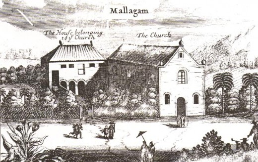 A Church at Mallakam in Jaffna Peninsula.