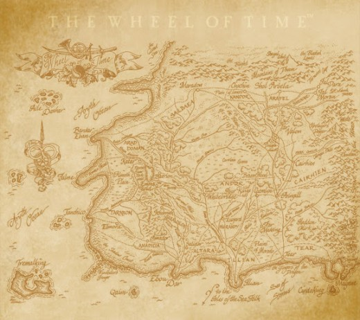 World map for 'The Wheel of Time' series