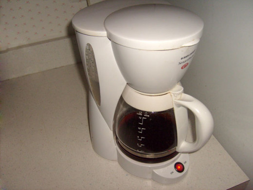 Use vinegar to clean your coffee pot
