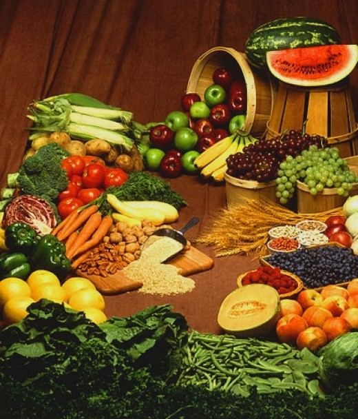 Many whole food are rich in fiber and protein