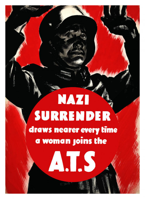 A Vintage ATS recruitment poster. Auxiliary Territorial Service.
