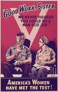 Recruiting women for WW2 vintage poster