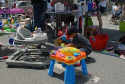 Gently used baby items sell well on eBay and can be purchased for a few dollars at yard sales.