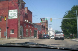 Driving through downtown Parkersburg