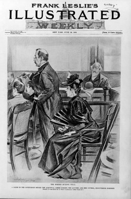 Lizzie Borden At Her Trial.