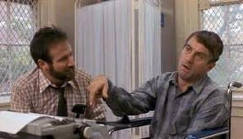 Robert De Niro and Robin Williams star in this dramatic film entitled Awakenings.