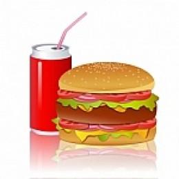 Coke and burger