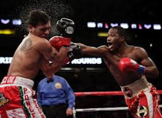 Adrien Broner lands a lead right on Daniel Ponce De Leon en route to decision win. Broner is an outspoken prizefighter to say the least.