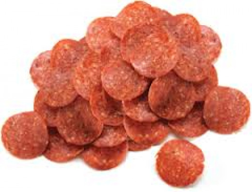 Pepperoni can be beef or pork and it is most commonly found on pizza.