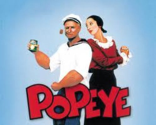 Popeye has had movies, cartoons and toys. He was a great character to grow up to. Popeye's enemy is Bluto but, his love is Olive Oil.