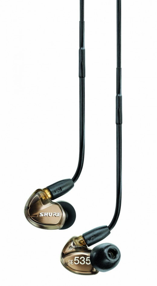 Shure SE535-V Triple High-Definition MicroDriver Earphone with Detachable Cable
