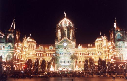 Chhatrapati Shivaji Terminus in Mumbai (Bombay), India.