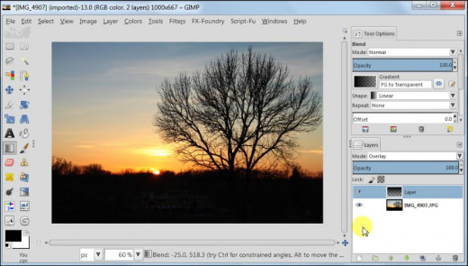 Fig. 2  How to post process your sunset images in GIMP 2.8
