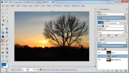 Fig. 3  How to post process your sunset images in GIMP 2.8
