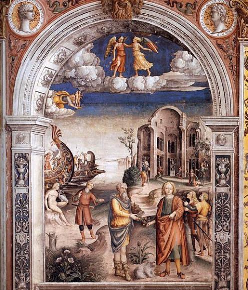 Giovanni Maria Falconetto, Mantua, Palazzo d'Arco, Sala dello Zodiaco, Sign of Gemini.