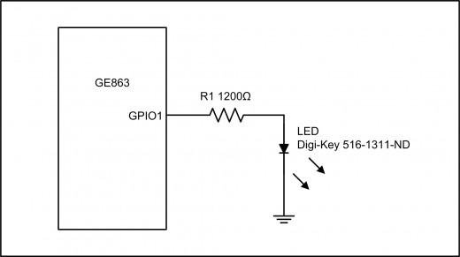 Figure 1.3: GPIO Output Example Using an LED