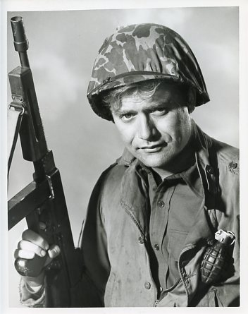 Vic Morrow in the role of Sarge in Combat.