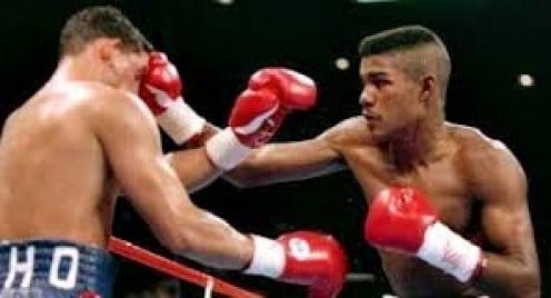 Tito Trinidad beat Hector Camacho by 12 round decision in defense of the welterweight crown.  He pounded the Macho Man silly in every round of the contest.