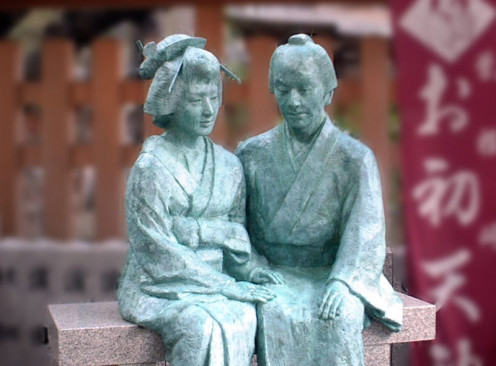 Ohatu and Tokubei sculpture