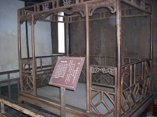 A bed in the Wuzhen Bed Museum