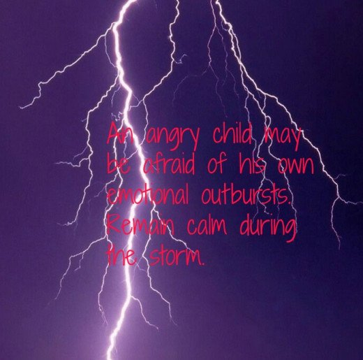 """""""Anger eventually subsides.  Be there for your child."""""""