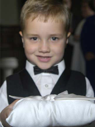 Isn't this an adorable ring-bearer?