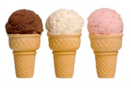 The invention of the ice cream cone helped sell more ice cream.